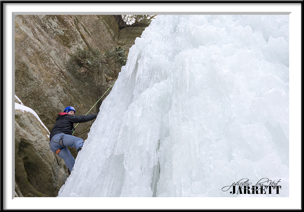 Wildcat Falls with Climber